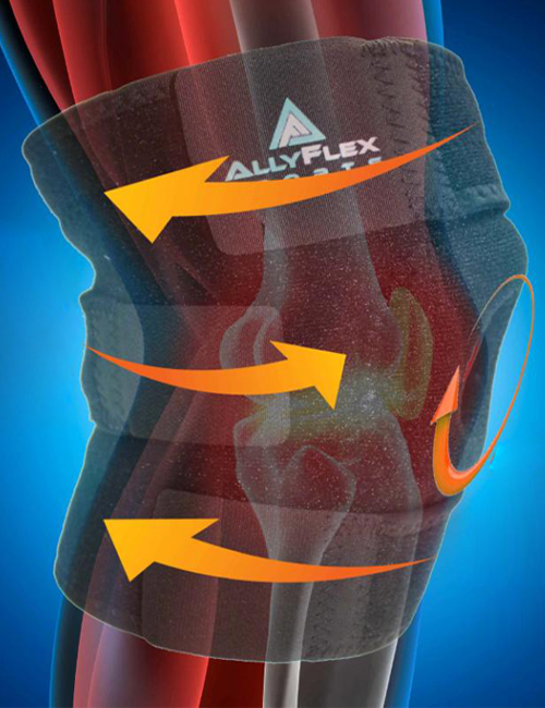AllyFlex Sports® Knee Brace Open Patella Stabilizer - Custom Fit | NeoAllySports.com