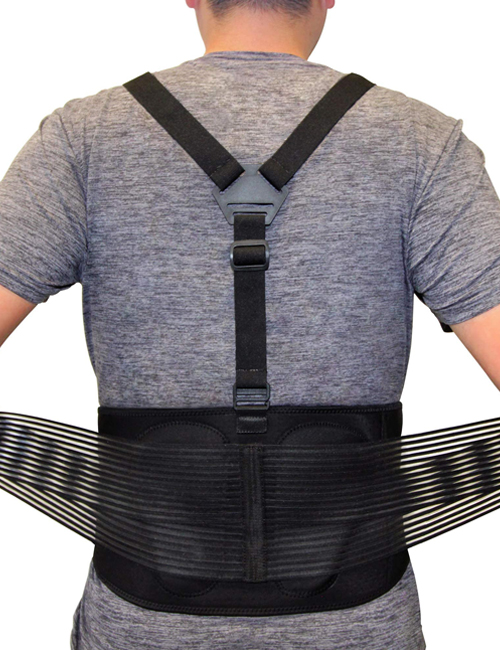 AllyFlex Sports® Lumbar Support Back Brace with Suspenders - Adjustable Straps for Custom Fit | NeoAllySports.com