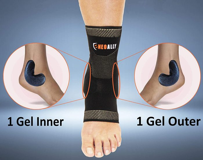 NeoAlly® Copper Gel-Padded Ankle Sleeves | Gel Inserts for Additional Support | NeoAllySports.com