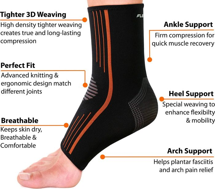 NeoAlly® Compression Ankle Sleeves - High Compression | Breathable, Long-Lasting Compression, Arch Support | NeoAllySports.com