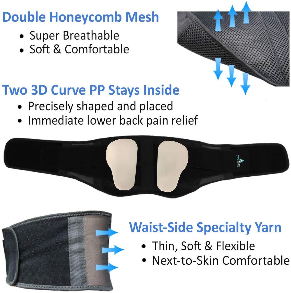 AllyFlex Sports® Lightweight Back Brace - Soft, Breathable, Removable Lumbar Pads  NeoAllySports.com