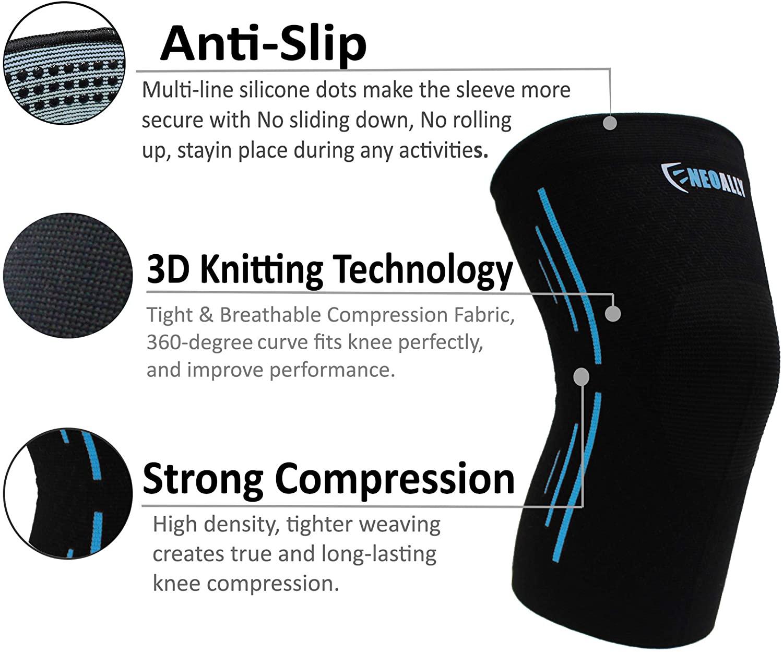 NeoAlly® Sports Knee Sleeves | Anti-Slip, Strong Compression | NeoAllySports.com