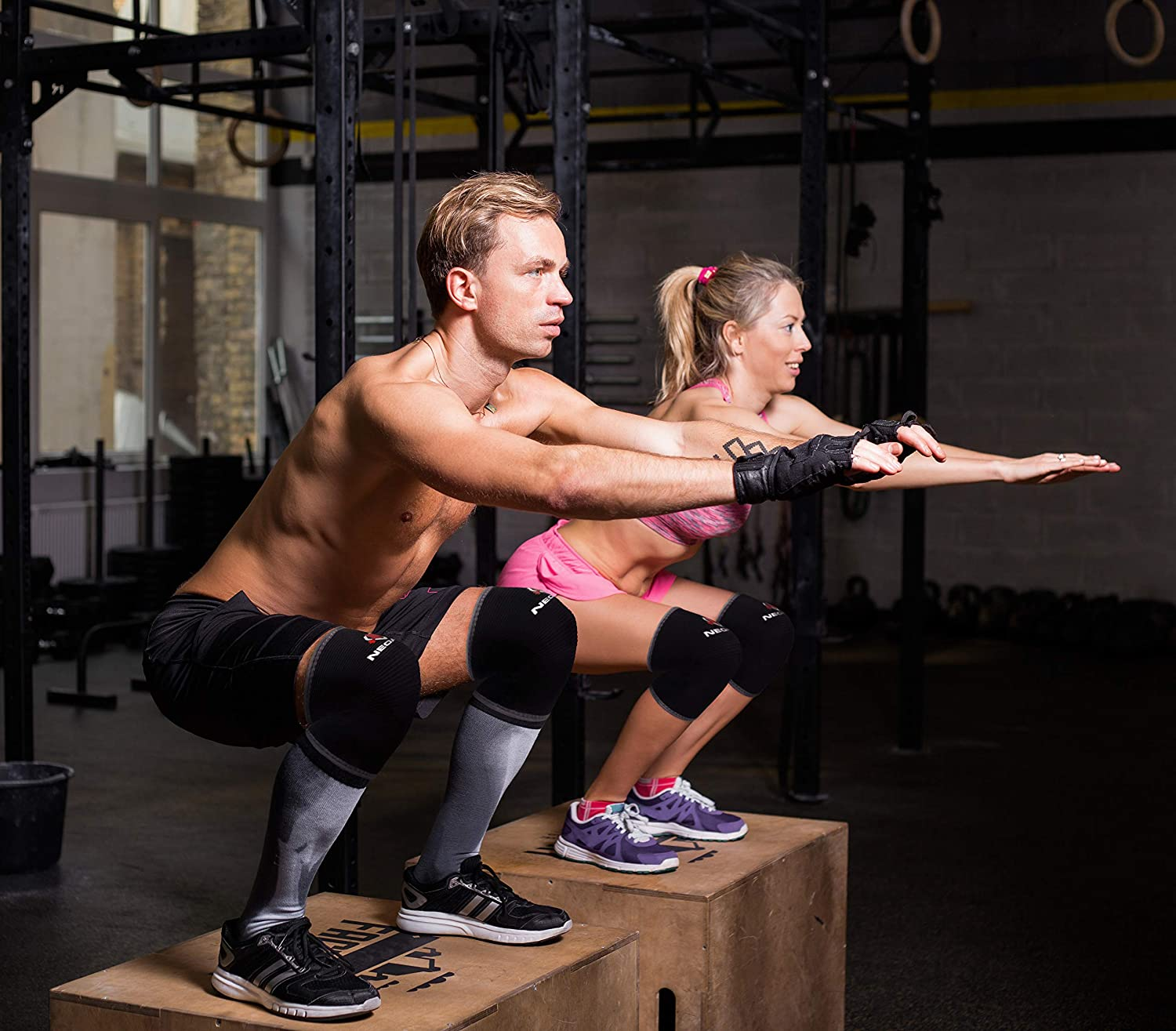 NeoAlly® High Strength Compression Knee Sleeves   CrossFit, Jumping, Weightlifting, Squats   NeoAllySports.com